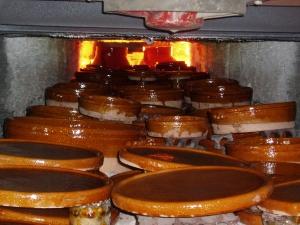El horno de cocción.